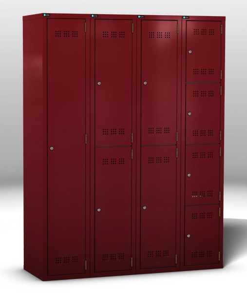 Bank of 4 Lockers